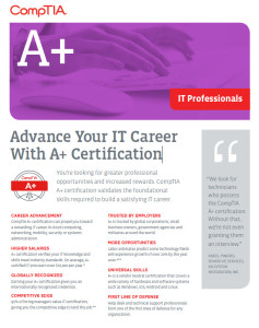 CompTIA A-Plus flyer cover