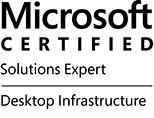 Microsoft Certified Solutions Expert (MCSE) Desktop Infrastructure logo