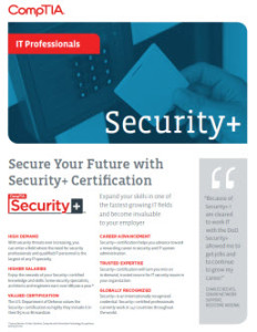 CompTIA Security Plus Flyer