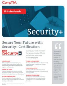CompTIA Security Plus Flyer